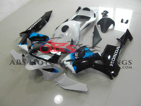 Honda CBR600RR (2003-2004) White, Black & Blue Fairings