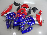 Red, White and Blue American Flag Fairing Kit for a 2005, 2006 Honda CBR600RR motorcycle