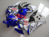 Blue and White FIAT Racing Fairing Kit for a 2005, 2006 Honda CBR600RR motorcycle