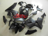 Matte Black Fairing kit with Red & White stickers for a 2005, 2006 Honda CBR600RR motorcycle
