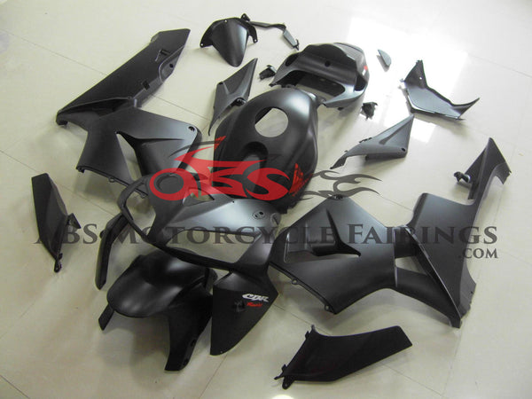 Honda CBR600RR (2005-2006) Matte Black Fairings with Red & White stickers