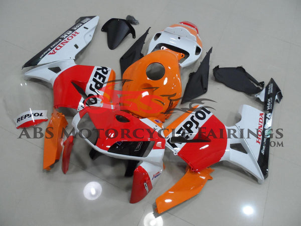 Honda CBR600RR (2005-2006) Orange, White & Red Repsol Race Fairings