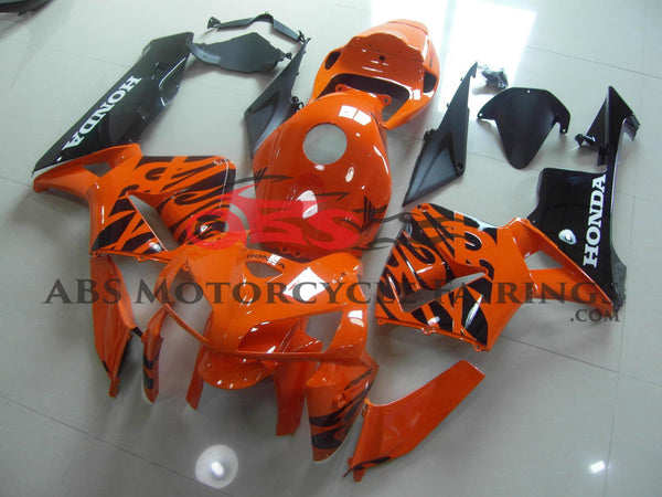 Orange & Black Flame 2005-2006 Honda CBR600RR