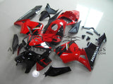 Black and Red Fairing Kit for a 2005, 2006 Honda CBR600RR motorcycle