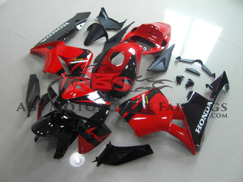 Red & Black Fairing Kit 2005-2006 Honda CBR600RR