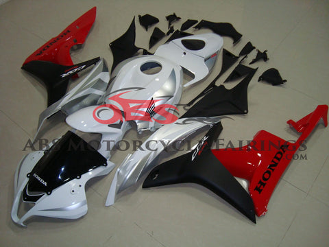 Honda CBR600RR (2007-2008) White, Silver, Black & Red Fairings