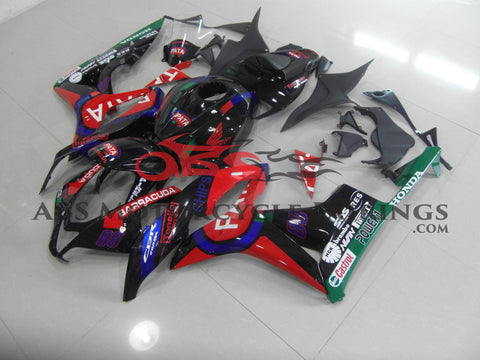 Honda CBR600RR (2007-2008) Black & Red Pata Race Fairings