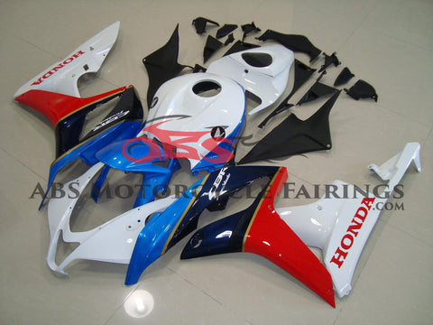 Honda CBR600RR (2007-2008) White, Blue & Red Fireblade Fairings