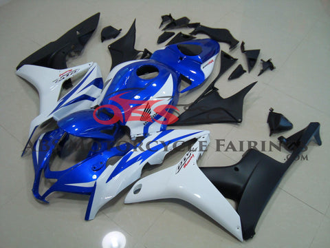 Blue White & Matte Black 2007-2008 Honda CBR600RR