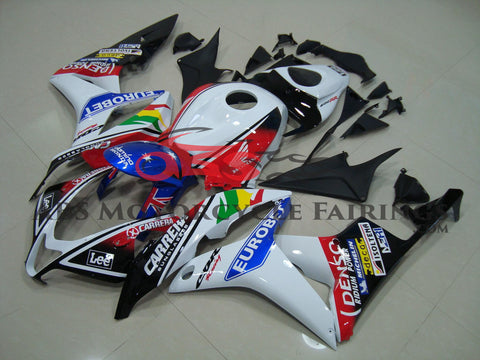 Honda CBR600RR (2007-2008) White, Black & Red Eurobet Race Fairings