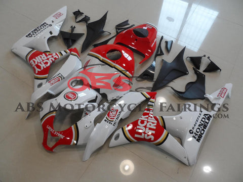 Honda CBR600RR (2007-2008) White & Red Lucky Strike Race Fairings