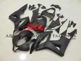 Matte Black Fairing Kit with Red Stickers for a 2007, 2008 Honda CBR600RR motorcycle