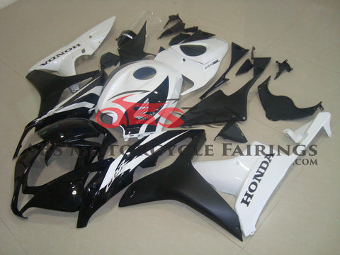Honda CBR600RR (2007-2008) Gloss Black & Gloss White with Matte Black Fairings