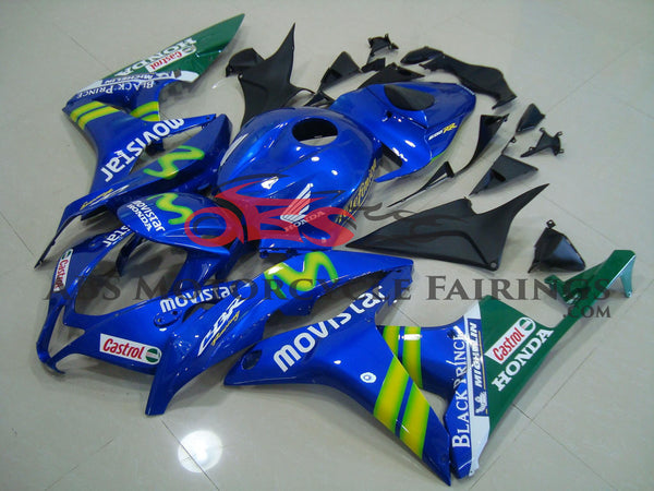 Honda CBR600RR (2009-2012) Blue & Green Movistar Fairings
