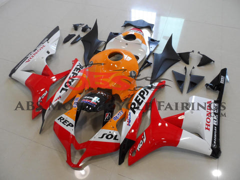 Honda CBR600RR (2007-2008) Orange, Red & White Repsol Fairings