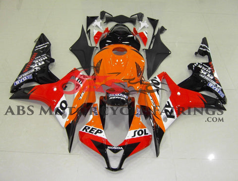 Honda CBR600RR (2007-2008) Orange, Red & Black Repsol Fairings