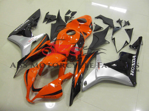 Honda CBR600RR (2007-2008) Orange, Black & Silver Fairings