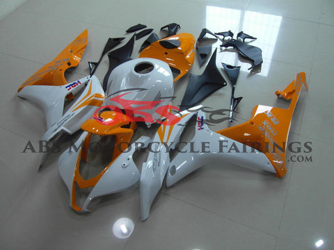Pearl White & Orange 2007-2008 Honda CBR600RR