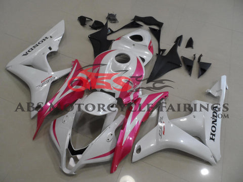 Pearl White with Pink 2007-2008 Honda CBR600RR