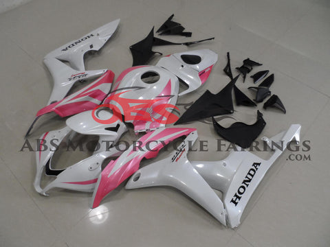 Honda CBR600RR (2007-2008) White & Light Pink Fairings