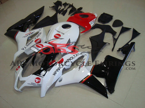 Honda CBR600RR (2007-2008) White, Black & Red Konica Minolta Fairings