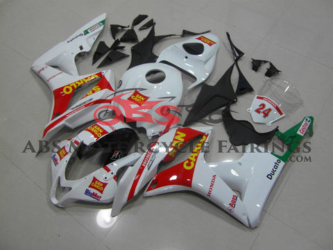 Honda CBR600RR (2007-2008) White & Red San Carlo Race Fairings