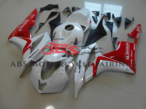 Honda CBR600RR (2007-2008) White & Red Fairings