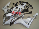 White & Silver Fairing Kit for a 2007, 2008 Honda CBR600RR motorcycle