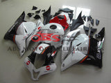 White, Black and Red Konica Minolta Fairing Kit for a 2009, 2010, 2011 & 2012 Honda CBR600RR motorcycle