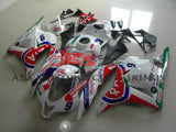 White and Red PATA Racing Fairing Kit for a 2009, 2010, 2011 & 2012 Honda CBR600RR motorcycle