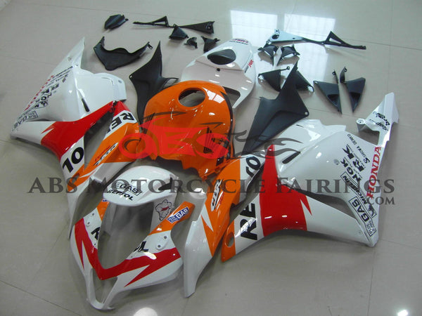 Honda CBR600RR (2009-2012) White, Orange & Red Repsol Fairings