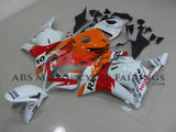 White, Orange and Red Repsol Fairing Kit for a 2009, 2010, 2011 & 2012 Honda CBR600RR motorcycle
