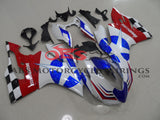White, Blue and Red Corse Star Fairing Kit for a 2011, 2012, 2013 & 2014 Ducati 1199 motorcycle
