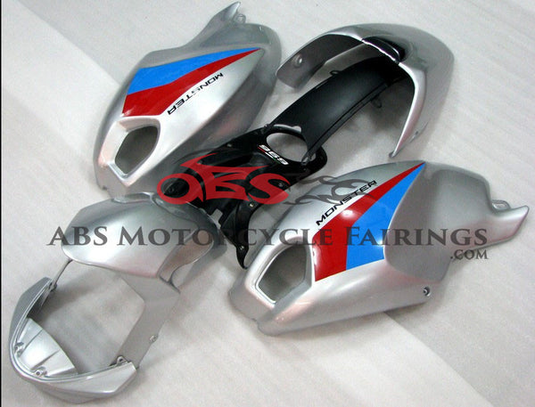 Silver with Red & Blue Strip DUCATI Monster 696