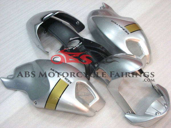 Silver with Gold Strip DUCATI Monster 696