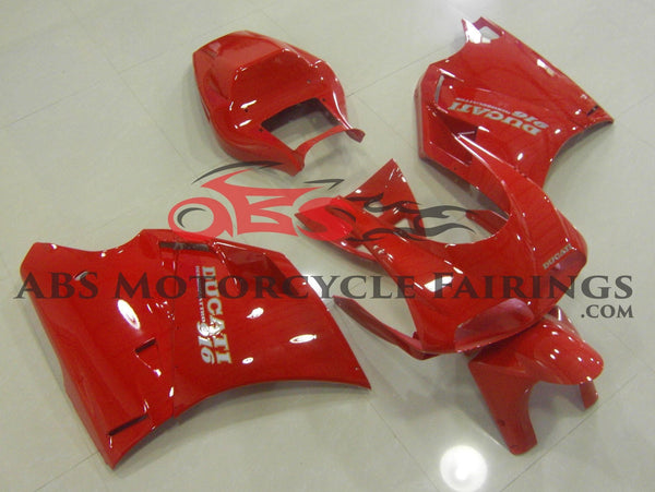 All Red Fairing Kit for a 1994, 1995, 1996, 1997, 1998 & 1999 Ducati 916 motorcycle