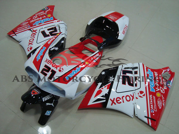 Ducati 998 (2002-2003) White, Red & Black #21 Fairings