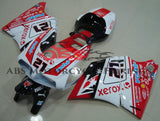 White, Red and Black #21 Fairing Kit for a 1994, 1995, 1996, 1997, 1998, 1999, 2000, 2001, 2002 & 2003 Ducati 748 motorcycle