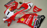 Red & White #1 Race Fairing Kit for a 1994, 1995, 1996, 1997, 1998, 1999, 2000, 2001, 2002 & 2003 Ducati 748 motorcycle