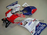 White, Red and Blue Fairing Kit for a 1994, 1995, 1996, 1997, 1998, 1999, 2000, 2001, 2002 & 2003 Ducati 748 motorcycle