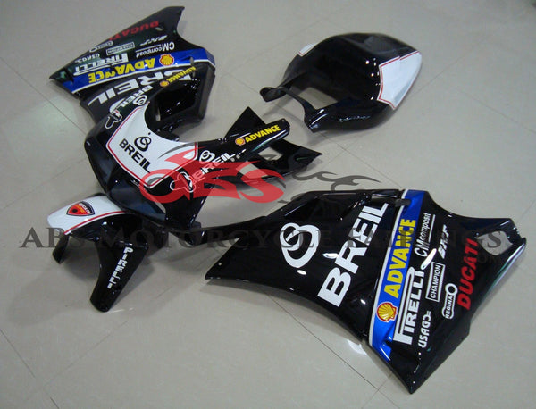 DUCATI 996 (1998-2002) BLACK & White BREIL FAIRINGS