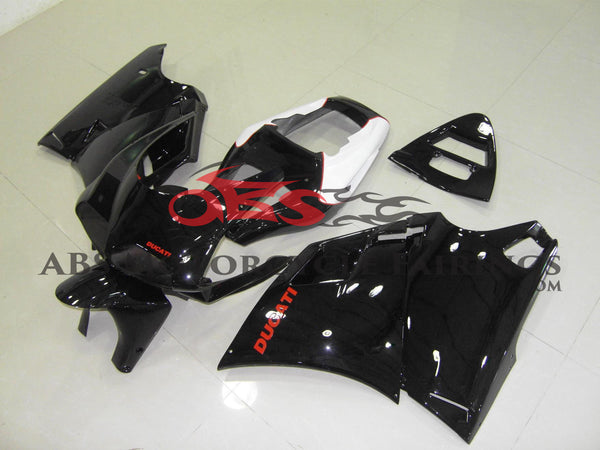 Gloss Black with Red Decals 1998-2002 DUCATI 748