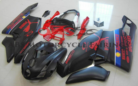Ducati 749 (2003-2004) Matte Black & Red Puma Fairings