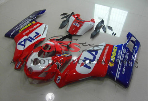 Ducati 999 (2003-2004) Red, White & Blue Fila Fairings