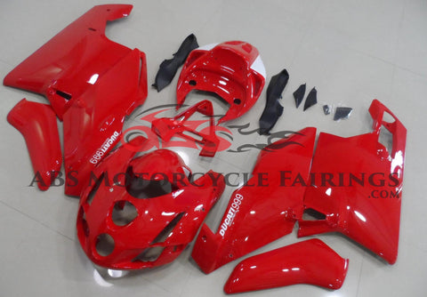 Gloss Red Fairing Kit for a 2003 & 2004 Ducati 999 motorcycle