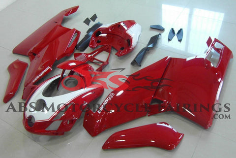 Ducati 749 (2003-2004) Dark Red & White Fairings