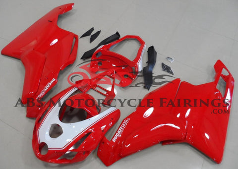 Red & White Fairing Kit for a 2003 & 2004 Ducati 749 motorcycle