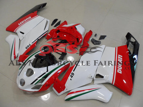 Ducati 999 (2003-2004) White, Red, Green & Black Fairings