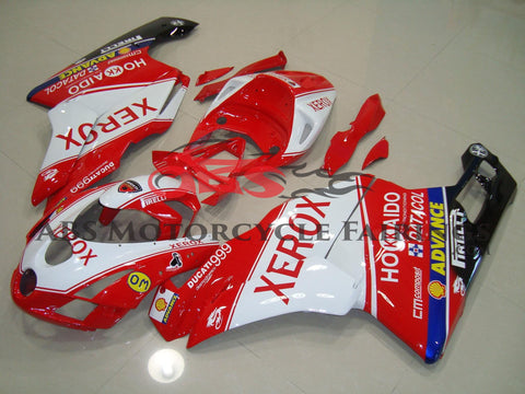 Red and White Xerox Advance Fairing Kit for a 2003 & 2004 Ducati 999 motorcycle
