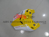Yellow, White and Green Race Fairing Kit for a 2003 & 2004 Ducati 999 motorcycle